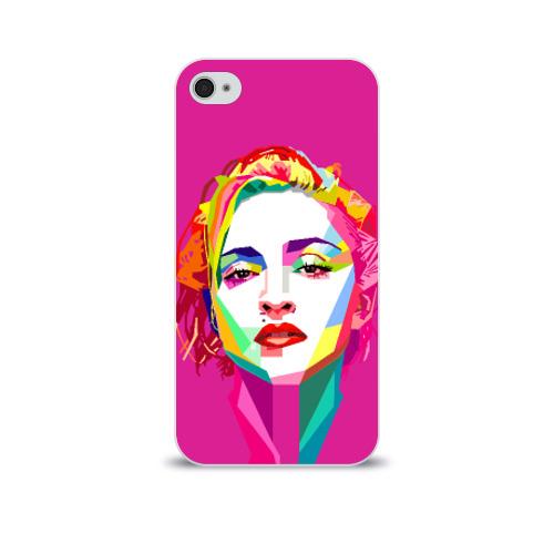 Чехол для Apple iPhone 4/4S soft-touch  Фото 01, Мадонна