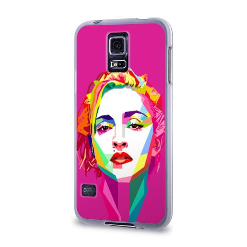 Чехол для Samsung Galaxy S5 силиконовый  Фото 03, Мадонна