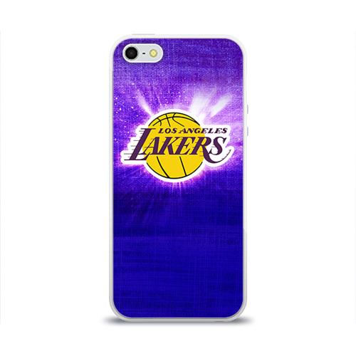 Чехол для Apple iPhone 5/5S силиконовый глянцевый  Фото 01, Los Angeles Lakers