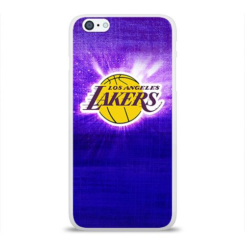 Чехол для Apple iPhone 6Plus/6SPlus силиконовый глянцевый  Фото 01, Los Angeles Lakers
