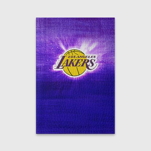 Обложка для паспорта матовая кожа  Фото 01, Los Angeles Lakers
