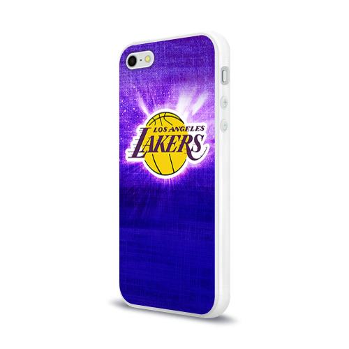 Чехол для Apple iPhone 5/5S силиконовый глянцевый  Фото 03, Los Angeles Lakers