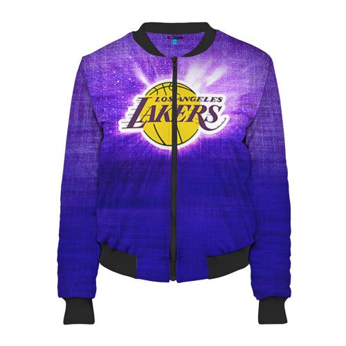 Женский бомбер 3D Los Angeles Lakers