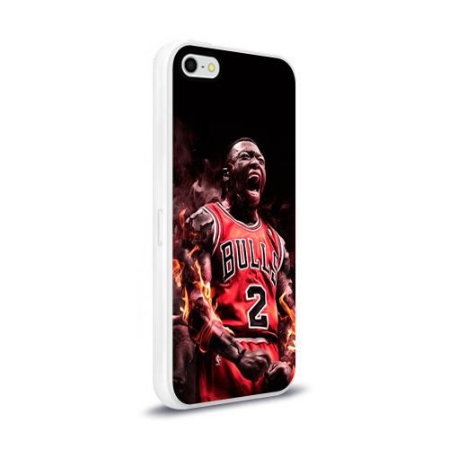 Чехол для Apple iPhone 5/5S силиконовый глянцевый  Фото 02, NBA спорт