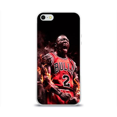 Чехол для Apple iPhone 5/5S силиконовый глянцевый  Фото 01, NBA спорт