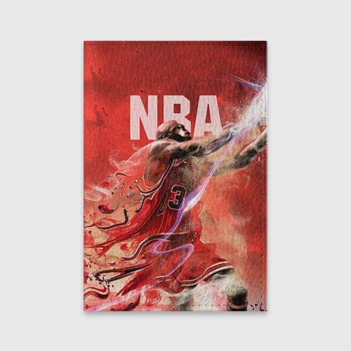 Обложка для паспорта матовая кожа Спорт NBA Фото 01