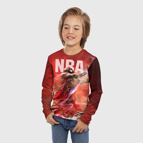 Детский лонгслив 3D Спорт NBA Фото 01