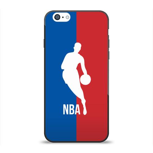 Чехол для Apple iPhone 6 силиконовый глянцевый Эмблема NBA от Всемайки