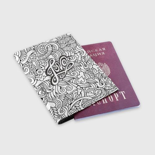 Обложка для паспорта матовая кожа  Фото 03, Love графика