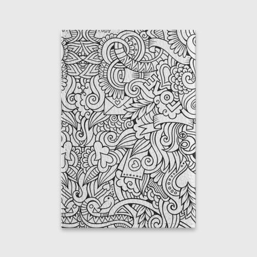 Обложка для паспорта матовая кожа  Фото 02, Love графика