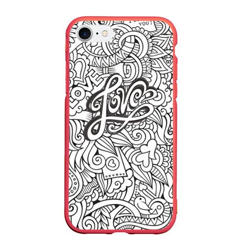 Чехол для iPhone 7/8 матовый Love графика Фото 01