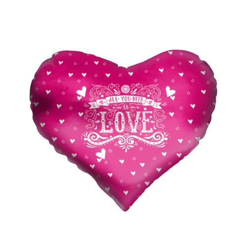 Подушка 3D сердце  Фото 01, All you need love