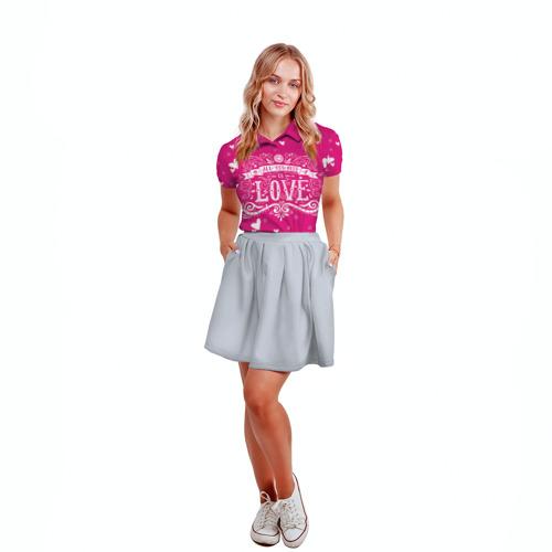 Женская рубашка поло 3D  Фото 04, All you need love