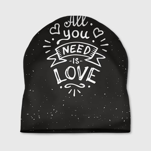 Шапка 3D Любовь надпись