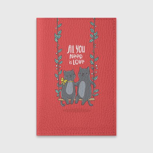 Обложка для паспорта матовая кожа  Фото 01, Кисули Love