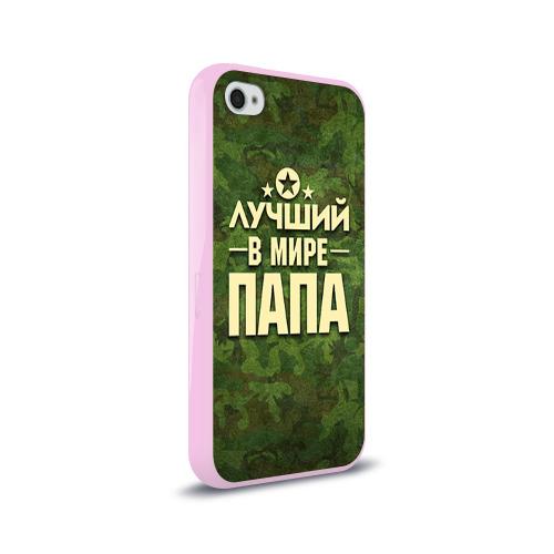 Чехол для Apple iPhone 4/4S силиконовый глянцевый Лучший в мире папа Фото 01