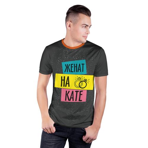 Мужская футболка 3D спортивная Жена Катя Фото 01