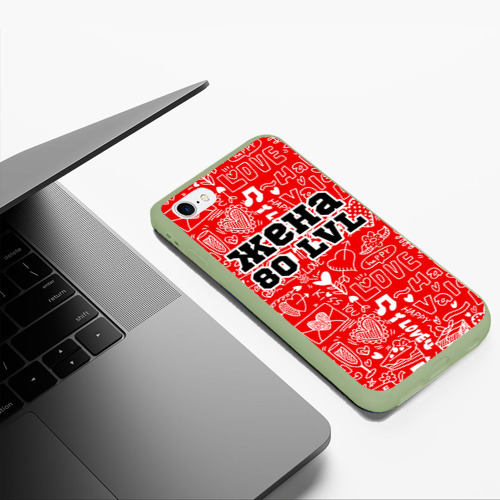 Чехол для iPhone 6Plus/6S Plus матовый Жена 80 lvl Фото 01