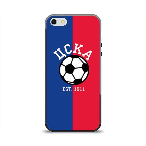 Чехол силиконовый глянцевый для Телефон Apple iPhone 5/5S ЦСКА от Всемайки