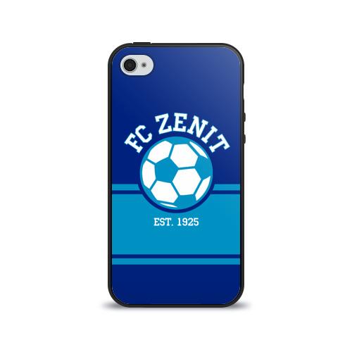 Чехол для Apple iPhone 4/4S силиконовый глянцевый Зенит от Всемайки