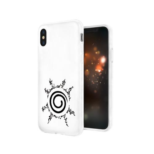 Чехол для Apple iPhone X силиконовый глянцевый Печать Девятихвостого Фото 01