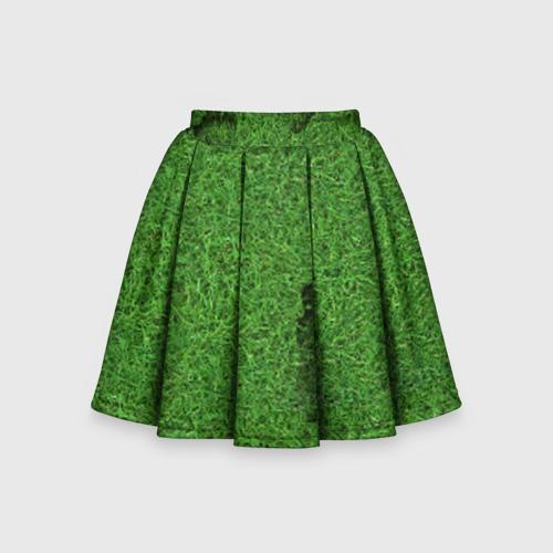 Детская юбка-солнце 3D Следы на траве