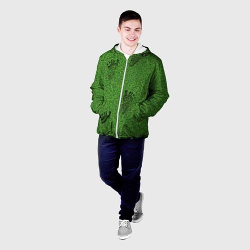 Мужская куртка 3D  Фото 03, Следы на траве