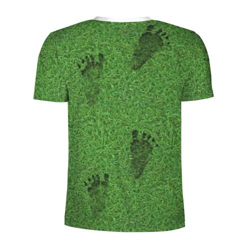 Мужская футболка 3D спортивная  Фото 02, Следы на траве