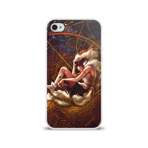 Чехол для Apple iPhone 4/4S силиконовый глянцевый  Фото 01, Принцесса Мононоке