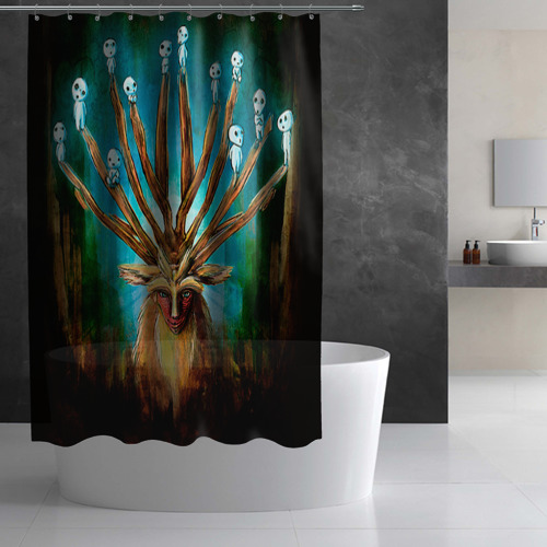 Штора 3D для ванной  Фото 02, Принцесса Мононоке