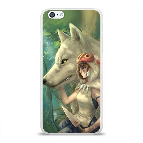 Чехол для Apple iPhone 6Plus/6SPlus силиконовый глянцевый  Фото 01, Принцесса и волк