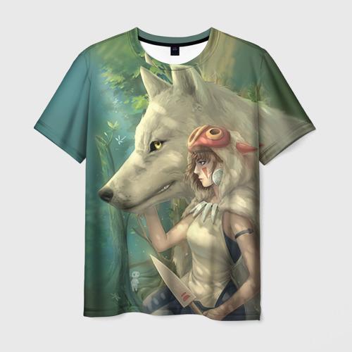 Мужская футболка 3D  Фото 03, Принцесса и волк