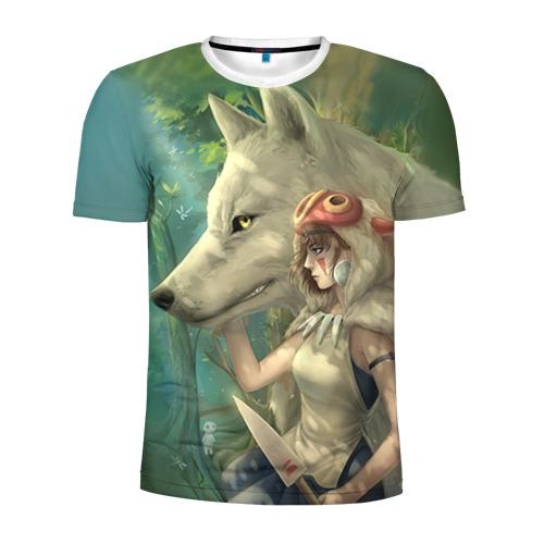 Мужская футболка 3D спортивная  Фото 01, Принцесса и волк