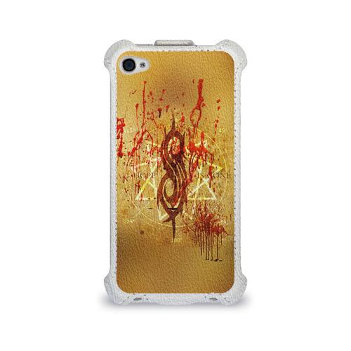 Чехол для Apple iPhone 4/4S flip  Фото 01, Slipknot