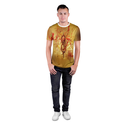 Мужская футболка 3D спортивная  Фото 04, Slipknot