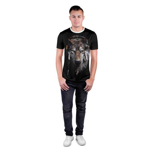 Мужская футболка 3D спортивная  Фото 04, Волк