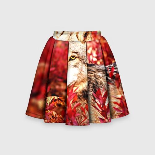 Детская юбка-солнце 3D Волк 1