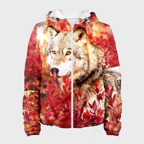 Женская куртка 3D  Фото 01, Волк 1