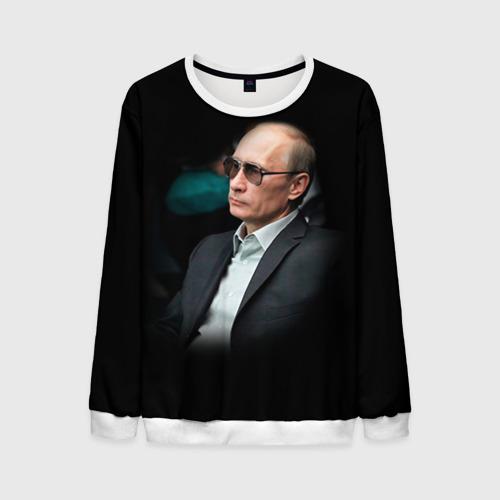 """Мужской свитшот 3D с полной запечаткой """"Путин"""" (черный) - 1"""