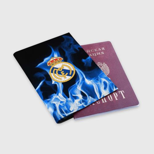 Обложка для паспорта матовая кожа  Фото 03, Real Madrid