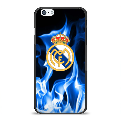 Чехол для Apple iPhone 6 Plus силиконовый глянцевый Real Madrid от Всемайки