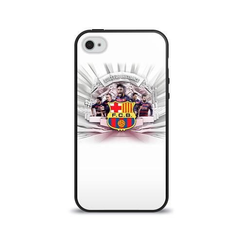 Чехол для Apple iPhone 4/4S силиконовый глянцевый Барселона 1 от Всемайки