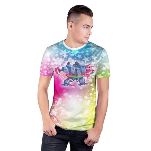 Мужская футболка 3D спортивная  Фото 03, Месть дредноута