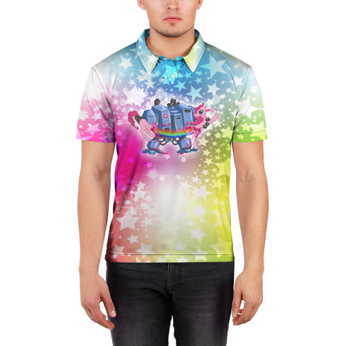 Мужская рубашка поло 3D  Фото 03, Месть дредноута