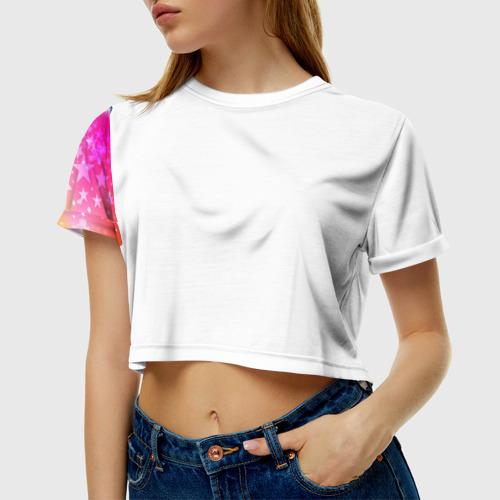 Женская футболка 3D укороченная Месть дредноута
