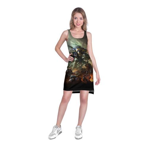 Платье-майка 3D  Фото 03, Титан