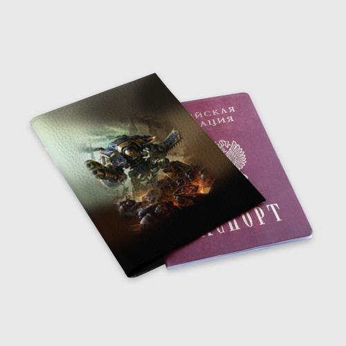 Обложка для паспорта матовая кожа  Фото 03, Титан