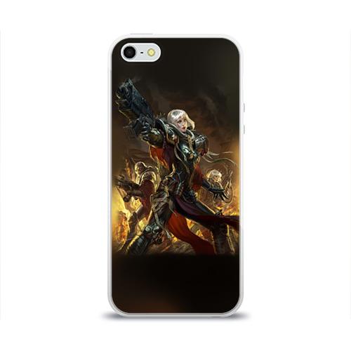 Чехол для Apple iPhone 5/5S силиконовый глянцевый  Фото 01, Adepta Sororitas