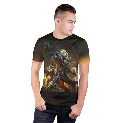 Мужская футболка 3D спортивная Adepta Sororitas Фото 01