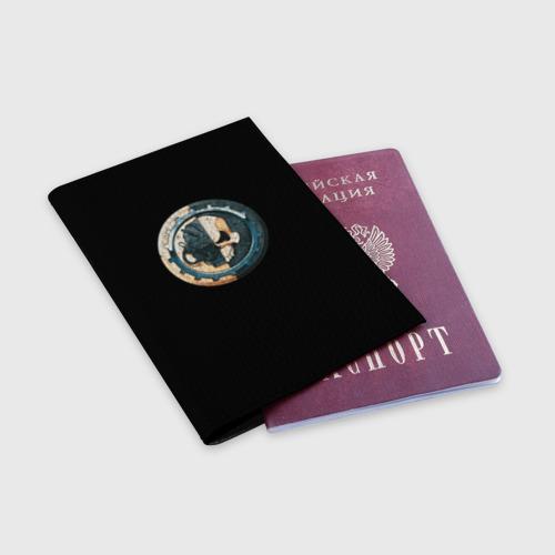 Обложка для паспорта матовая кожа  Фото 03, Adeptus Mechanicus